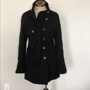 Jack by BB Dakota black long pea coat